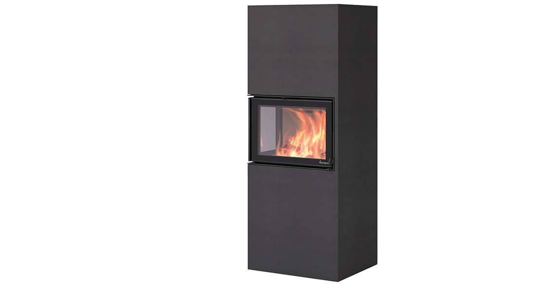 Fireplace BOX From Nordpeis with N20A black - Fireplace BOX From Nordpeis with N20A black